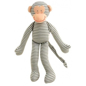 Alimrose Monkey Rattle Grey