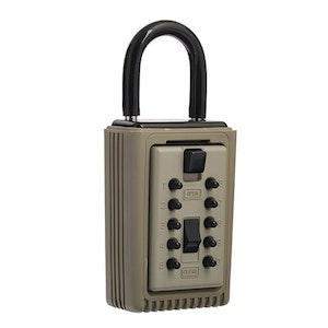 Kidde 3 Key Capacity Portable Padlock Key Share Key Box Safe Clay Colour SU1350