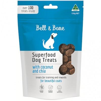 BELL & BONE Coconut & Chia Superfood Dog Treats 150G