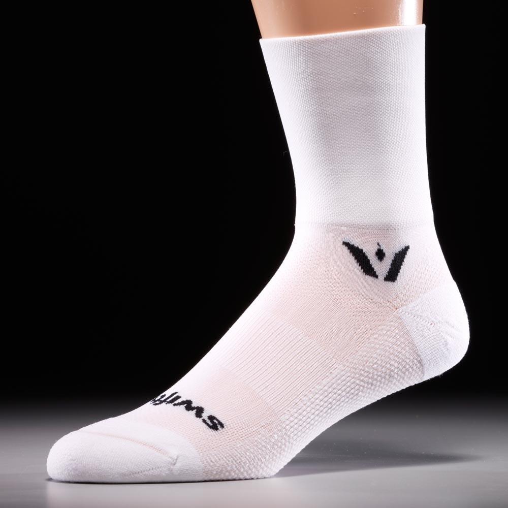 White Cycling Shoe White Sock