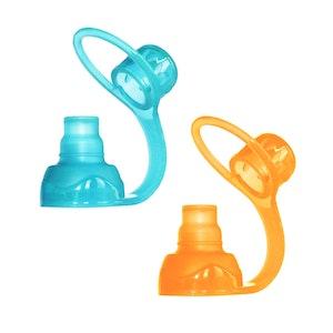ChooMee SoftSip Food Pouch Silicone Tops - 2 CT   Orange Aqua