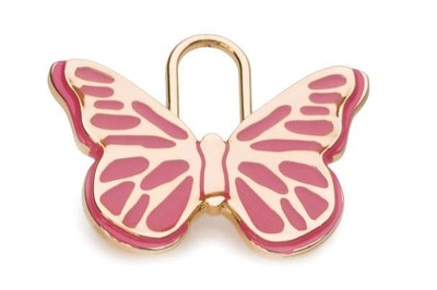 Hamish McBeth Pink Butterfly Pet ID Tag