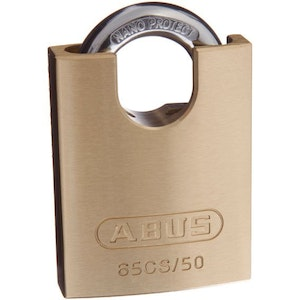ABUS Brass Padlock 65CS/50 With Closed Shackle Keyed to Differ