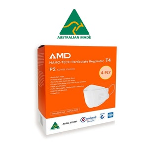 AMD Premium Nano-tech - Flatfold - P2 Disposable Mask (50 Pack)