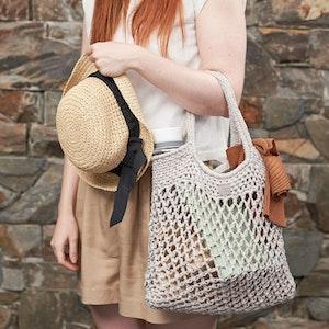 Weaverbird • Market Bag • Crochet • Colour: LYCHEE