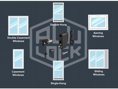 ALU - lock 10 Pack Multi Purpose Window Restrictor Lock - Keyed Alike  - Black