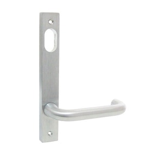 dormakaba narrow style inner square end plate with cylinder hole & 25 lever visible fixing in SCP finish