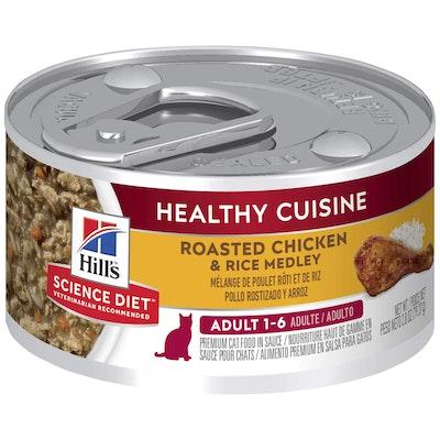 Hills Hill's Science Diet Healthy Cuisine Adult Chicken & Rice Medley Wet Cat Food 79G