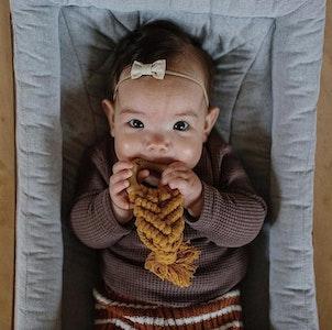 Bubba Bump Baby Mustard Macrame Teether