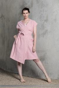 Quillan Pottery Wrap Dress - Salmon