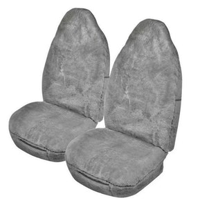 Downunder Sheepskin Seat Covers 16Mm Airbag Safe (Size 60/25) | Silver Grey