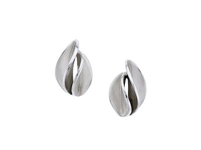 Medium Spiral stud earrings