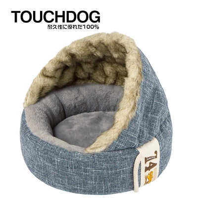 TOUCHDOG Double Donut Premium Designer Dog Bed - Blue Grey