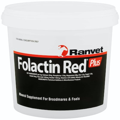 Ranvet Folactin Plus Broodmares & Foals Mineral Supplement Red - 2 Sizes