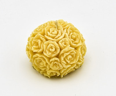 MoeJoe Creations Organic Natural Beeswax Unscented Table Rose Decoration