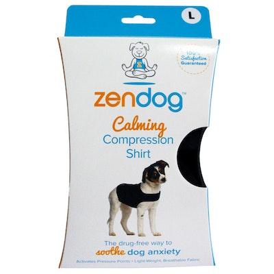Zendog Calming Compression Shirt for Dogs Black - 6 Sizes