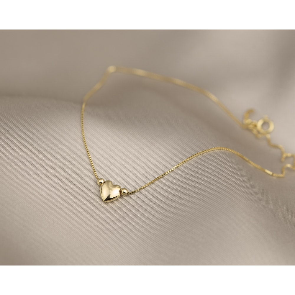 Jessica Alice Jewellery 9ct Solid Gold Heart Anklet