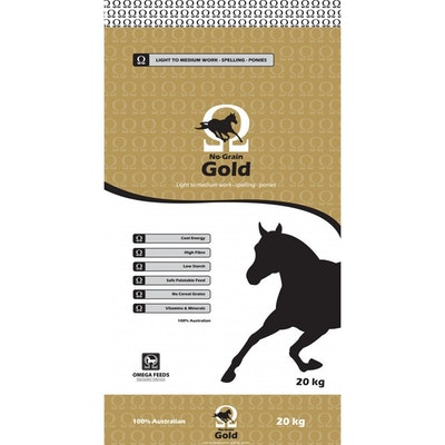 Omega Feeds Omega No Grain Gold Horse Performance Feed Supplement 20kg