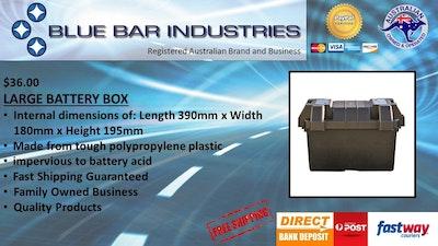 Matson Battery Box Large Size 390 x 180 x 195mm