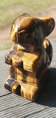 Frozen In Time Celestial Crystals  Tiger's Eye Squirrel