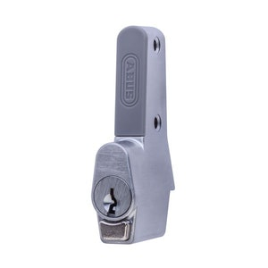 ABUS Sliding Window Push Lock for Sliding Aluminium Windows Vent Lock in Silver