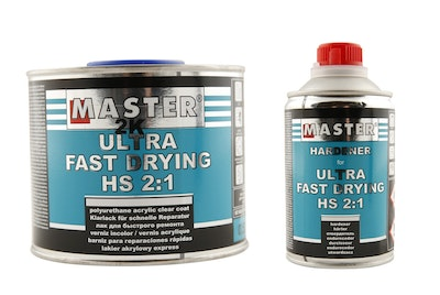 Master Ultra Fast Curing Clear Coat 500ml with Hardener