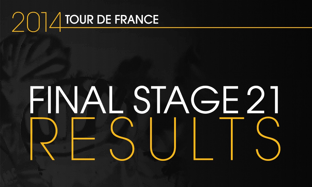 Nibali Wins 101st Tour de France - Stage Results