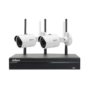 Dahua 1080P Wi-Fi CCTV Kit 4 Channel Network Video Recorder (1TB HDD) and x2 1.3MP Infrared Mini-Bullet Cameras