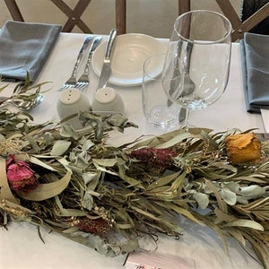 Bambole Designs GARLAND Dried Foliage and Flowers, Roses, Decorative Garlands, Wedding Garlands, Celebration, Party Decorations, 90 cm +, 21 available 2021