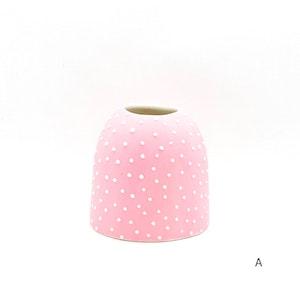 Ceramic Bud Vase - Dotty - #1 - Pink