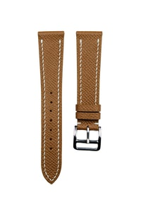 Artisan Straps - Epsom French Calf Leather Strap in Tan