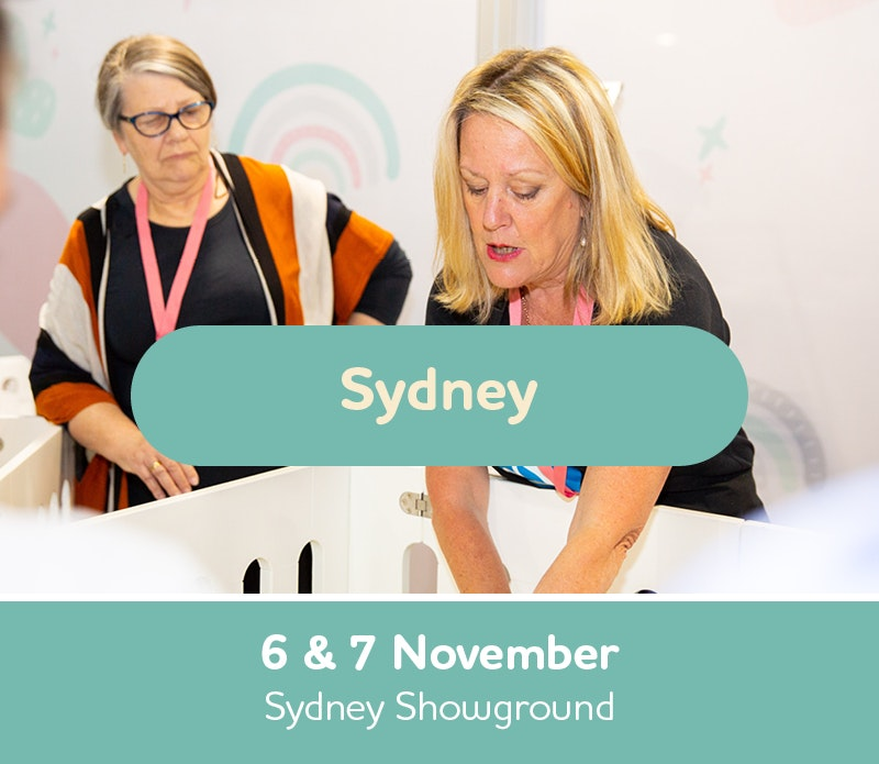Text box with Sydney Expo dates, 6th and 7th November, Sydney Showground