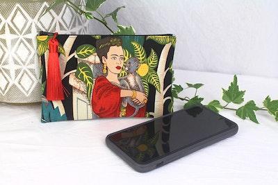 Frida Phone Purse - Black Monkey