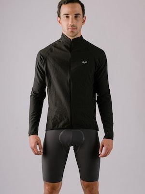 Taba Fashion Sportswear Chaqueta Ciclismo Hombre Cortaviento Negra