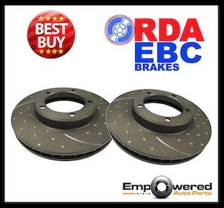 DIMPLED SLOTTED REAR DISC BRAKE ROTORS Fits Nissan 350Z Touring 2003-05 RDA7657D