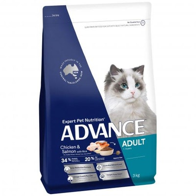 Advance Adult Chicken & Salmon Dry Cat Food 3kg
