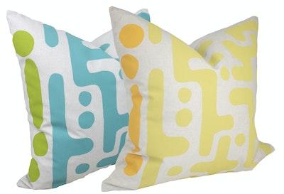 bob window Abstract print cushion - Gelato