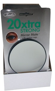 Tender 20x Magnifying Mirror Glass with Suction Cups