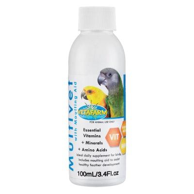 Vetafarm Multivet Liquid Vitamin Mineral Supplement Pet Bird - 4 Sizes