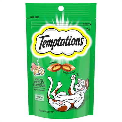 TEMPTATIONS High Protein Cat Treats Seafood Medley - 2 Sizes