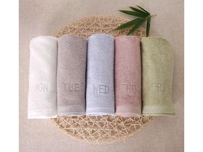 Bamboo Daily Face Towel - 5pcs Set