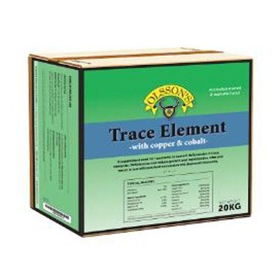 Olsson Trace Element Copper + Cobalt Salt Lick Livestock Feed Supplement 20kg