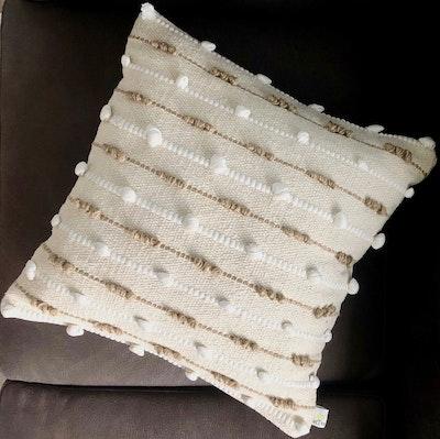 SATTVA WORLD sanī BOHO Handmade Neutral Decorative Cushions Cover