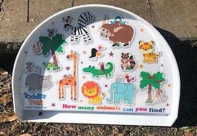 BibiLand Jungle BibiKids Non Slip Interactive Toddler Tray