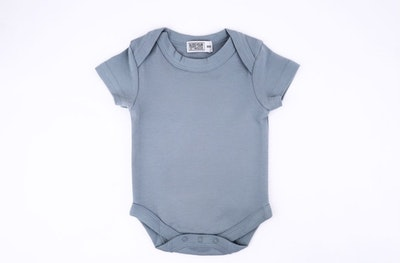 Powder Blue Onesie - Short Sleeve