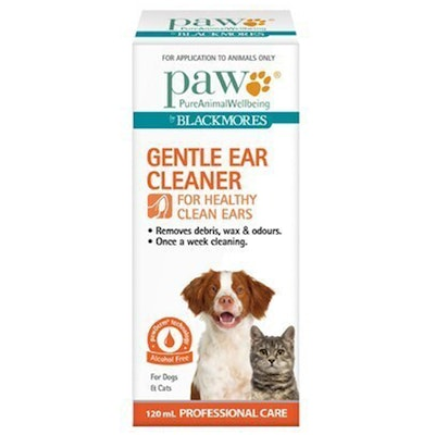 Paw Dogs & Cats Alcohol Free Gentle Ear Cleaner Solution 120ml