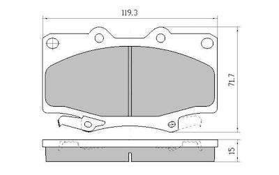 EBC YELLOW STUFF FRONT BRAKE PADS for Toyota Landcruiser 100 Series DP41319