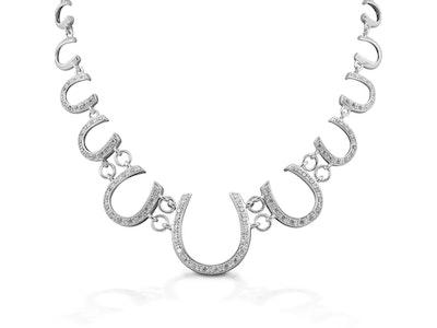 Kelly Herd Multi Horseshoe Necklace - Sterling Silver
