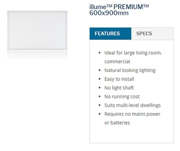 Sky Lights 600 x 900mm Rectangle Solar Powered LED Kimberley