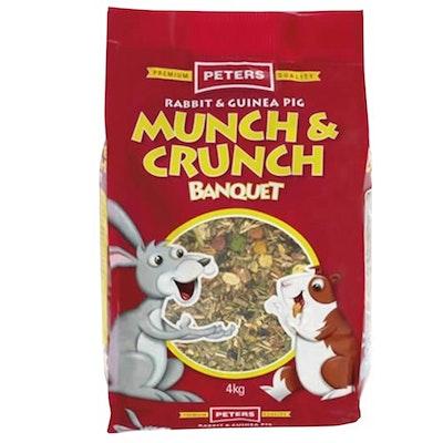 Peters Rabbit & Guinea Pig Munch & Crunch Banquet Feed - 2 Sizes